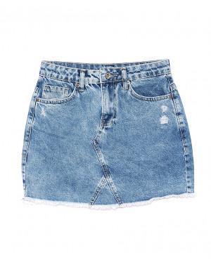 0603 Ondi юбка джинсовая с царапками котоновая (36-42, евро, 5 ед.)