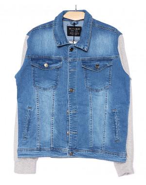 2031-1 In Yesir куртка джинсовая мужская батальная комбинированная весенняя стрейчевая (XL-5XL, 5 ед.)