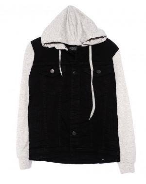2028-2 In Yesir куртка джинсовая мужская комбинированная с капюшоном весенняя котоновая (S-XXL, 6 ед.)