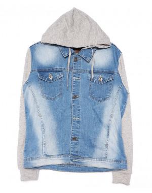 2013-3 In Yesir куртка джинсовая мужская комбинированная с капюшоном весенняя стрейчевая (S-XXL, 6 ед.)