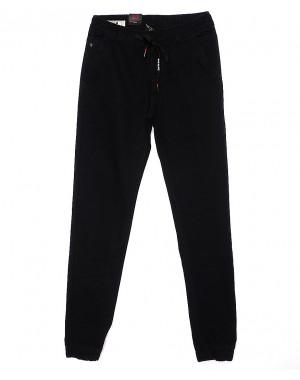 120202-X LS брюки мужские молодежные на резинке летние стрейч-котон (27-34, 8 ед.)