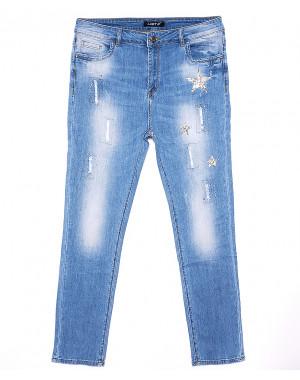 1275 Lady N джинсы женские батальные стильные летние стрейчевые (30-36, 6 ед.)