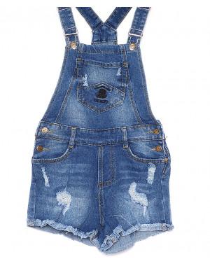 A 0010 (A10) Relucky комбинезон-шорты джинсовый женский стрейчевый (25-30, 6 ед.)