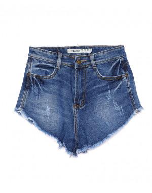 A 0072-10 Relucky шорты джинсовые женские с царапками стрейчевые (25-30, 6 ед)