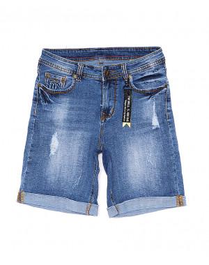 A 0578-15 Relucky шорты джинсовые женские с рванкой и царапками стрейчевые (25-30, 6 ед)