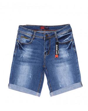 A 0570-15 Relucky шорты джинсовые женские батальные с царапками стрейчевые (28-33, 6 ед)