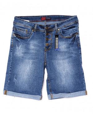 A 0149-15 Relucky шорты джинсовые женские батальные с царапками стрейчевые (28-33, 6 ед)