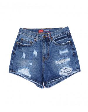A 0025-12 Relucky шорты джинсовые женские с рванкой котоновые (25-30, 6 ед)