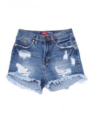A 0021-12 Relucky шорты джинсовые женские с рванкой котоновые (25-30, 6 ед)