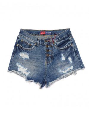 A 0027-12 Relucky шорты джинсовые женские с рванкой котоновые (25-30, 6 ед)