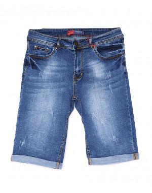 A 0576-15 Relucky шорты джинсовые женские батальные с царапками стрейчевые (31-38, 6 ед)