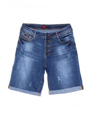 A 0154-15 Relucky шорты джинсовые женские батальные с царапками стрейчевые (31-38, 6 ед)
