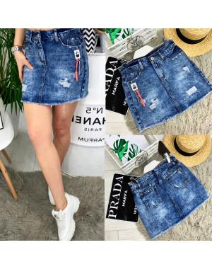 7035 New jeans юбка джинсовая с рванкой котоновая (25-30, 6 ед.)