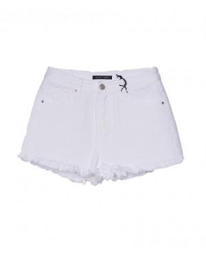 0161-2 Saint Wish шорты джинсовые женские белые котоновые (25-30, 6 ед.)