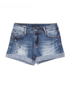 0152 Saint Wish шорты джинсовые женские с декоративной отделкой стрейчевые (25-30, 6 ед.)