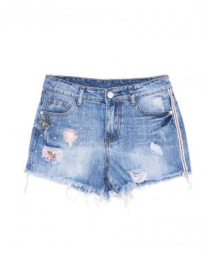 7046 New jeans шорты джинсовые женские с рванкой котоновые (25-30, 6 ед.)