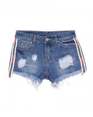 7064 New jeans шорты джинсовые женские с рванкой котоновые (25-30, 6 ед.)