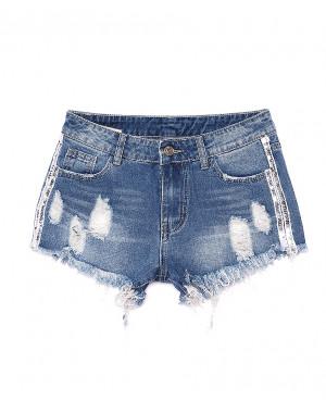 7049 New jeans шорты джинсовые женские с рванкой котоновые (25-30, 6 ед.)
