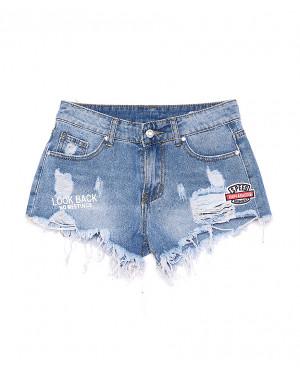 7038 New jeans шорты джинсовые женские с рванкой котоновые (25-30, 6 ед.)