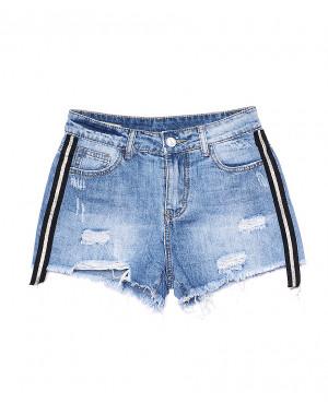 7055 New jeans шорты джинсовые женские с рванкой котоновые (25-30, 6 ед.)