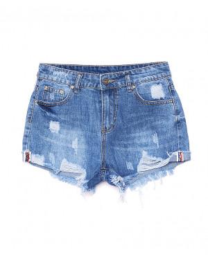 7054 New jeans шорты джинсовые женские с рванкой котоновые (25-30, 6 ед.)