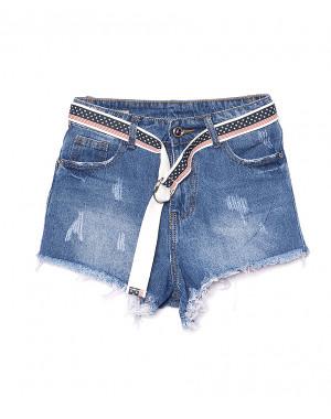 7066 New jeans шорты джинсовые женские с царапками котоновые (25-30, 6 ед.)