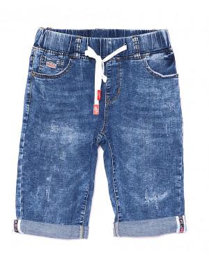 5060 New jeans шорты джинсовые мужские молодежные на резинке с царапками стрейчевые (28-36, 8 ед.)