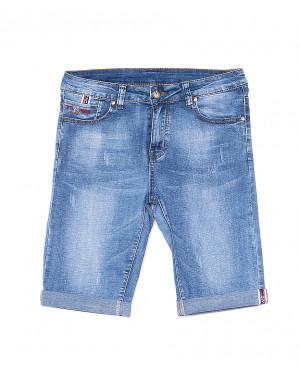 5076 New jeans шорты джинсовые мужские молодежные с царапками стрейчевые (28-36, 8 ед.)