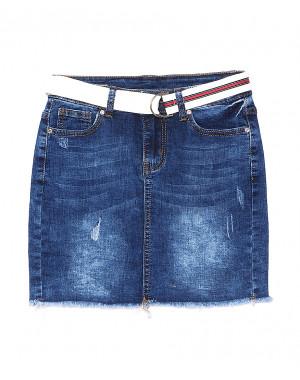 7039 New jeans юбка джинсовая с царапками стрейчевая (25-30, 6 ед.)