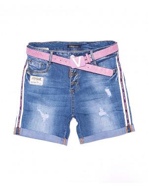 6121-3 Like шорты джинсовые женские батальные с рванкой стрейчевые (30-36, 6 ед.)
