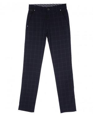 0063 K.L. sivash kalin New Leixoes брюки мужские темно-синие в клетку весенние стрейч-котон (30-36, 8 ед.)