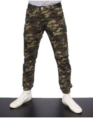 0018-001 (18-001S) Bullpro брюки мужские камуфляжные на манжете летние стрейчевые (29-36, 8 ед.)