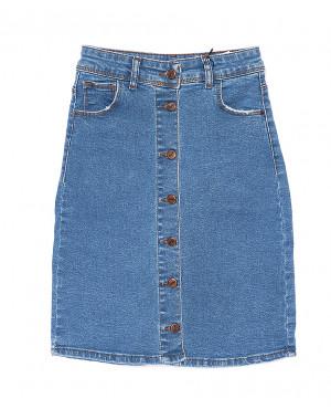 0688 ачик мави Hepyek юбка джинсовая на пуговицах летняя стрейчевая (34-40, евро, 4 ед.)