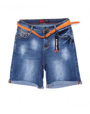 A 0618-15 Relucky шорты джинсовые женские с царапками стрейчевые (25-30, 6 ед.)