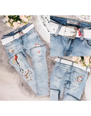 0612 Dolce Gabbana джинсы женские зауженные весенние стрейчевые (26-30, 6 ед.)