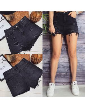 3085 Bao.Er шорты джинсовые женские с рванкой котоновые (M-XL, 6 ед.)