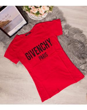 19099-G красный Givenchy футболка женская с принтом летняя стрейчевая (S-L, 3 ед.)