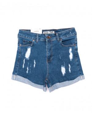 080622 темно-синие Sasha (2) шорты женские с подворотом рванка (26-31, 8 ед.)