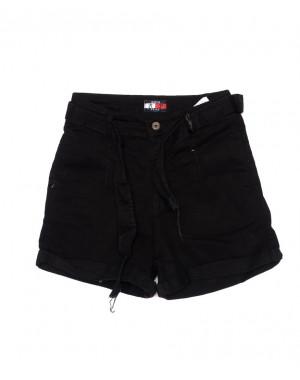 942335 Rich Play шорты женские черные с подворотом (26-32, 7 ед.)