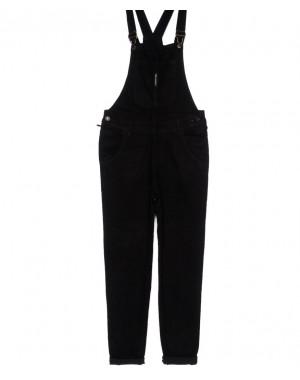 0304-1 Relucky комбинезон джинсовый женский черный осенний стрейчевый (25-30, 6 ед.)