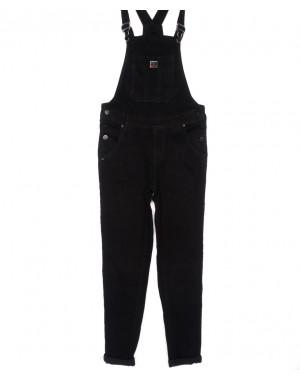 0305-1 Relucky комбинезон джинсовый женский черный осенний стрейчевый (25-30, 6 ед.)