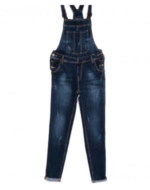 A 0302-16 Relucky комбинезон джинсовый женский с царапками осенний стрейчевый (25-30, 6 ед.)