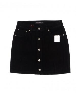 V 0409-1 Relucky юбка джинсовая на пуговицах осенняя котоновая (25-30, 6 ед.)