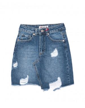 1905 XRAY юбка джинсовая с рванкой осенняя котоновая (34-40, евро, 6 ед.)