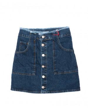 2996 XRAY юбка джинсовая на пуговицах осенняя котоновая (34-40, евро, 6 ед.)