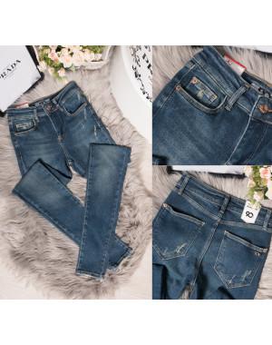 0019 Whats up 90s джинсы женские зауженные с царапками весенние стрейчевые (26-32, 7 ед.)