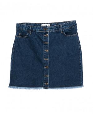 6009-02 Real Focus юбка джинсовая батальная черная осенняя котоновая (30-34, 5 ед.)