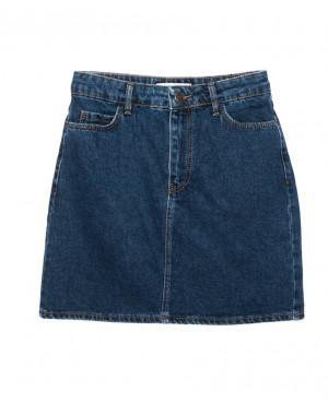 6010-02 Real Focus юбка джинсовая женская синяя осенняя котоновая (26-30, 5 ед.)