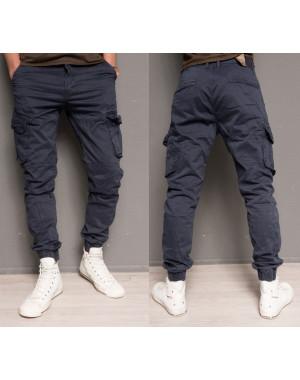 Брюки-джоггеры карго темно-синие Iteno 8905-15