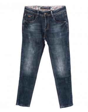8190 Fangsida джинсы мужские с царапками синие осенние стрейчевые (31-38, 8 ед.)